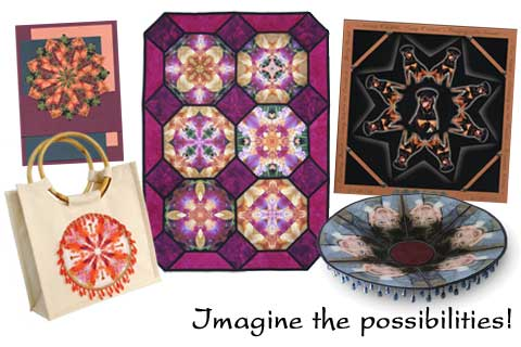 Stunning kaleidoscope designs for your quilts, cards, scrapbooks and so much more.
